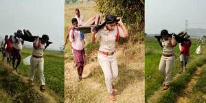 Lady SI Carries Homeless Man's Body after local villagers refused to come forward