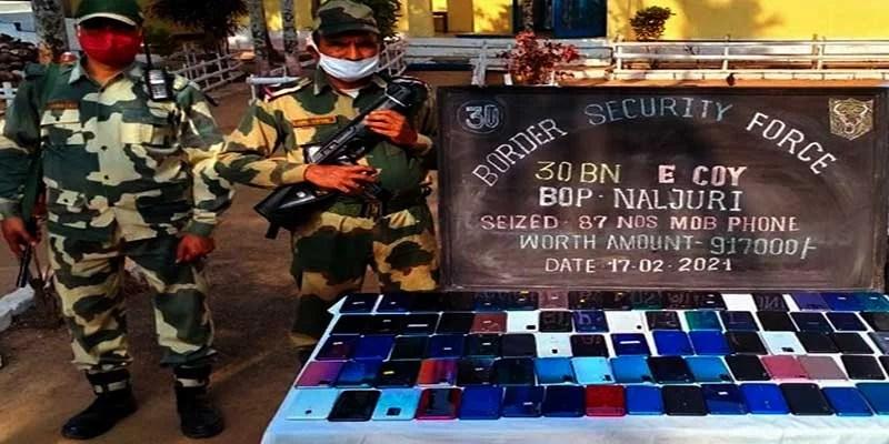 Meghalaya- BSF busts huge consignment of Smartphone at Bangladesh border