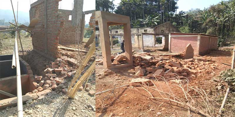 Assam: Twin blasts at primary school premises in Hailakandi