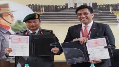 A Memorandum of Understanding was signed between the Assam Rifles and IDFC First Bank at Laitkor in Shillong by Colonel PS Singh, Colonel Administration,