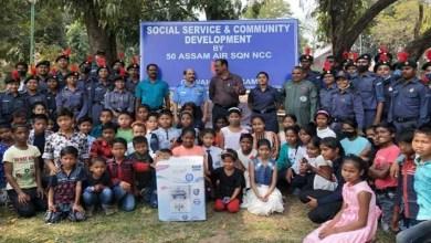 Assam: NCC Cadets visit SOS Chidlren's Village at Borjhar