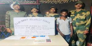 BSF apprehended one drug smuggler along with 777 yaba tablets from indo- bangladesh border