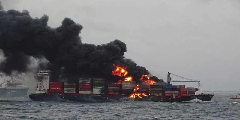 Indian Coast Guard mobilises its ships 'Vaibhav' and 'Vajra' to help MV X-Press Pearl off Colombo coast