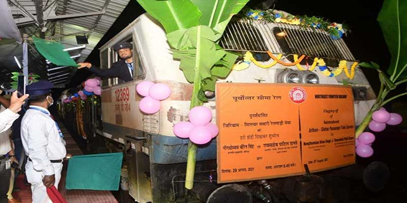 Passenger train service between Manipur and Assam flagged off by CM Manipur and Minister of State of Railways