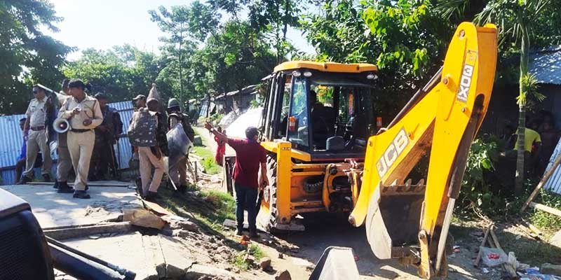 Assam: Eviction drive to clear 'illegal encroachments' in Darrang
