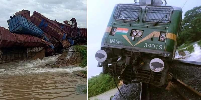 Odisha: goods train derails, 9 wagons fall into river