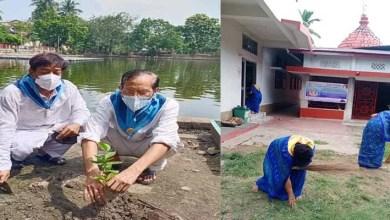 Assam: Sri Sathya Sai Seva Samithi cleanliness and tree plantation at Ugratara Devalaya