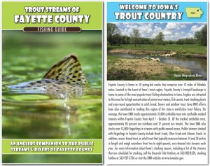 Trout Streams of Fayette County - Map and Fishing Guide - Cover