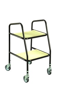 Rutland Adjustable Height Trolley (Brown, White)