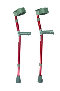 Forearm Crutches Red Paediatric Pair