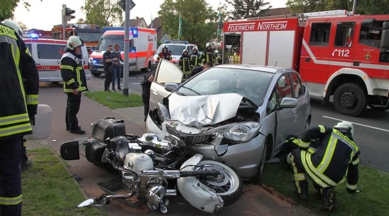Zwei verletzte nach Zusammenstoß mit Harley Davidson