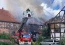 Vier Verletzte und 250.000 Euro Schaden nach Großfeuer in Greene bei Einbeck