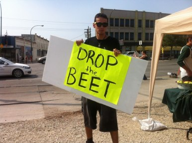 Droppin the BEET at the Main Street Farmer's Market 2012
