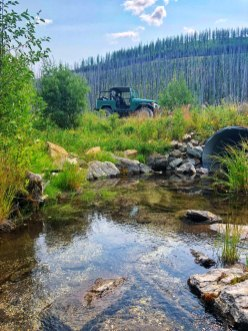 Toyota Landcruiser and NW Montana Stream