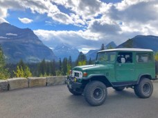 toyota landcruiser going to the sun road glacier national park fall