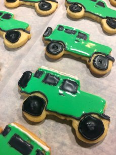 Freshly decorated Landcruiser Cookies