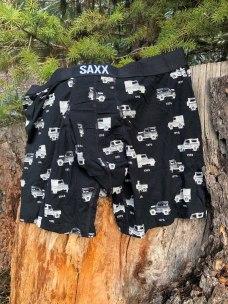 Saxx Underwear in the woods