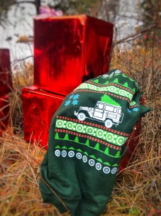 Uglt Christmas Sweater under the tree
