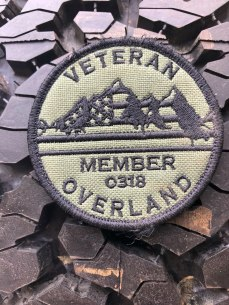 Veteran Overland Membership on tire