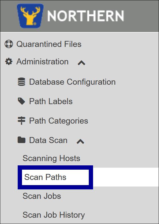 Scan Paths - Menu Selection