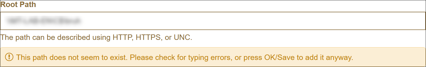 Scan Paths - Path does not exist error