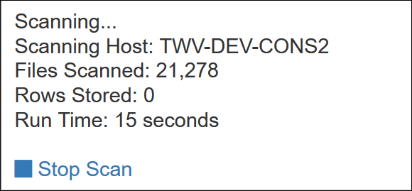 Add a Scan Job - Verify results start scan verification