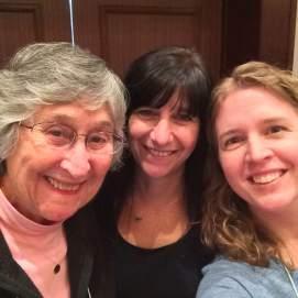 Ann Lieberman, Lindy Amato & me :)