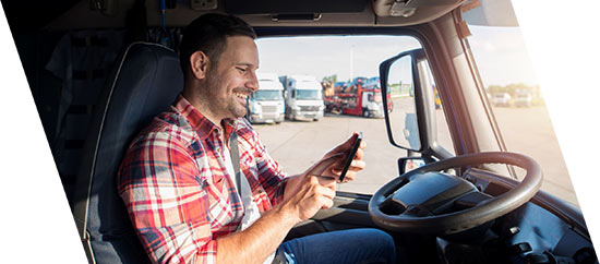 truck driver using eld solution