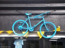 York - tour de Yorkshire - blue bike