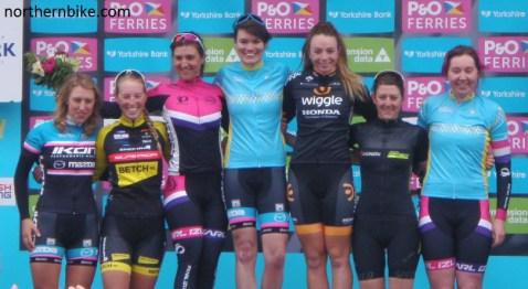York - tour de Yorkshire - women's podium