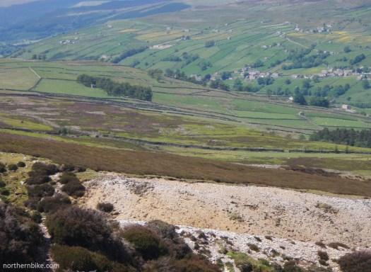Swaledale from Harkerside Moor lead workings