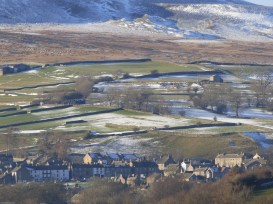 Swaledale; the village of Reeth
