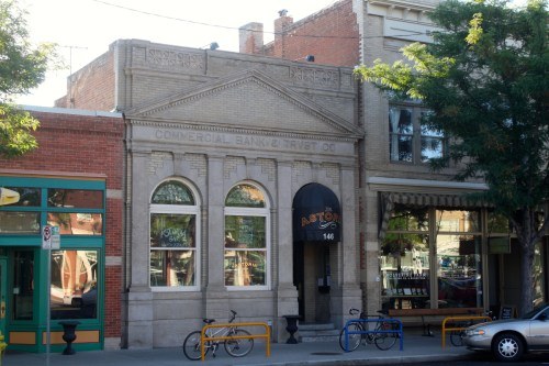 The Commercial Bank & Trust Company was built in 1907 and may be the only remaining example in Fort Collins of the Classical Revival style of architecture. The building's architect was Arthur Garbutt.