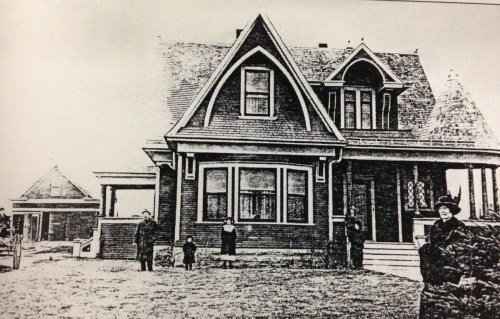 John Cusack, the builder of this house and the president of the First National Bank of Wellington, believed that the city of Wellington was destined to become one of the most important business points in Larimer County. (Photo from Ahlbrandt's book.)