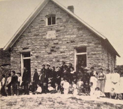 School house in Spring Canyon. (Photo from Hugo's Odyssey.)