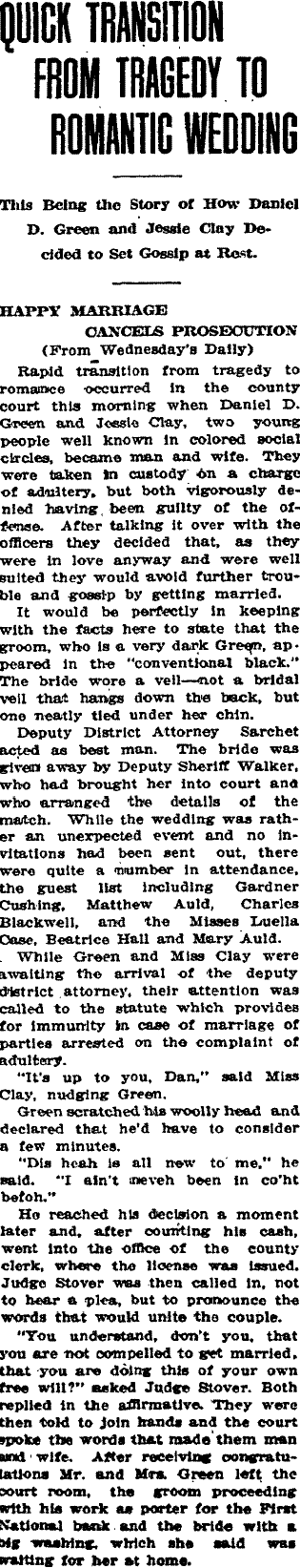 A Shotgun Wedding in Early Fort Collins