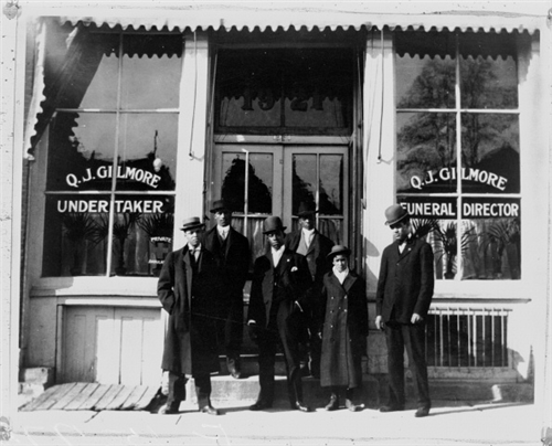 Q. J. Gilmore Undertaker and Funeral Director. A Black owned business in early Denver. (Photo from the History Colorado Archive.)