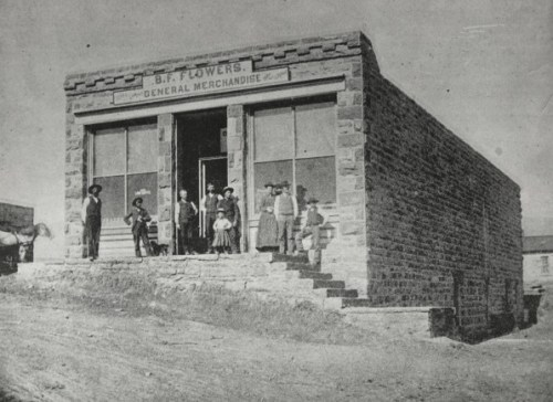 B. F. Flowers - General Merchandise (From the Fort Collins Archive - H08801.)