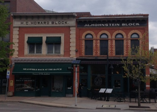 The Howard and Hohnstein Blocks on E. Mountain as seen in 2014.