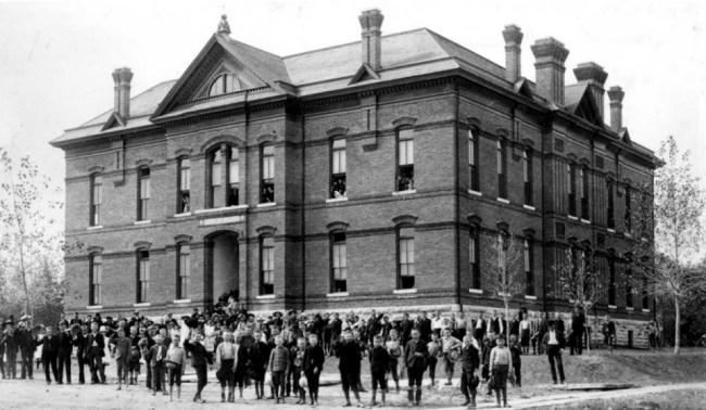 Benjamin Franklin School, built 1887.