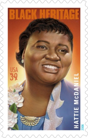 Hattie McDaniel on a postage stamp from 2006.