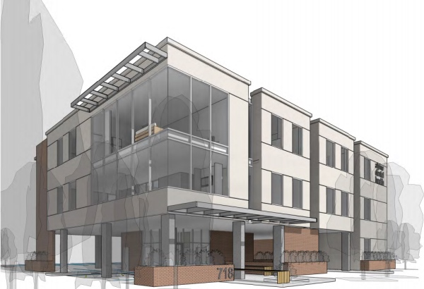 Proposed new Alpine Dental building with residential units