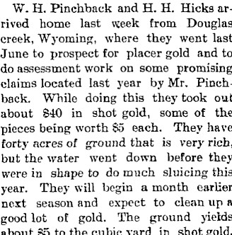 William H. Pinchback may have lived in Fort Collins in 1898, but by the 1900,  his wife and five children were the only black family living in South LIttleton.