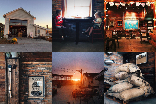 This collage of images was taken from the Facebook page of Bindle Coffee, which is located in Jessup Farm. Notice how these photos leverage the authentic sense of place that being located in the old mechanics garage on the farm lends to the business.