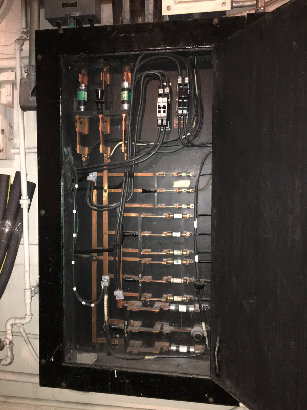 The old fuse box.