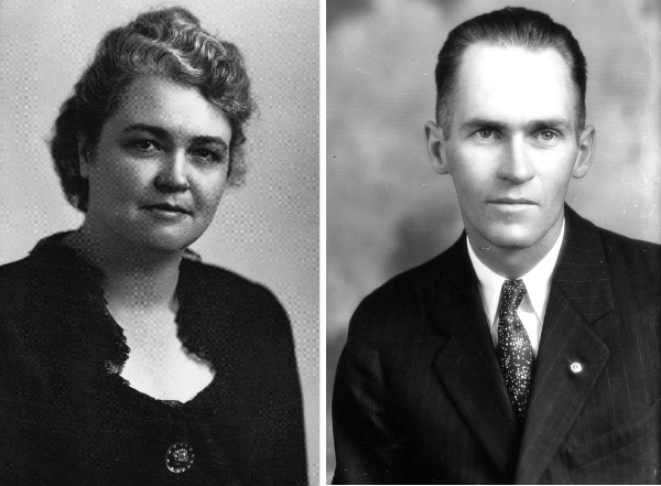 Author Hope Williams Sykes and her husband, Howard Sykes. (From the Fort Collins Archive, images H04587 and H08458a.)