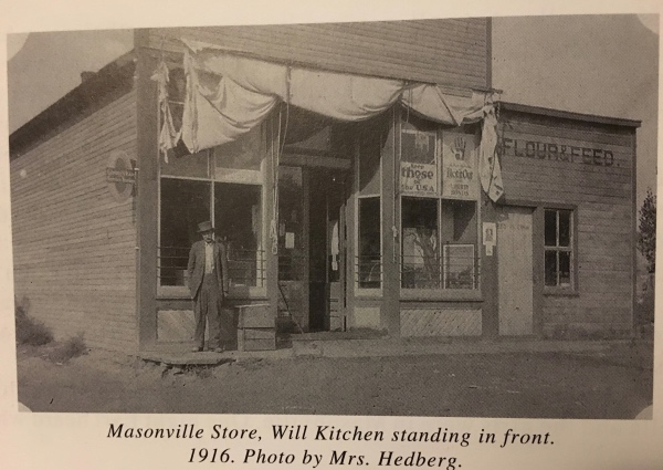 This photo of the store is from Elyse Deffke Bliss's book, Apples of the Mummy's Eye: The Dickerson Sisters.