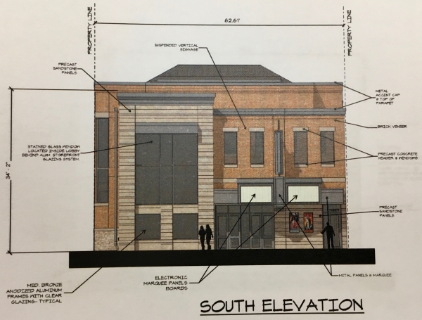 The south elevation of the new Washington's.