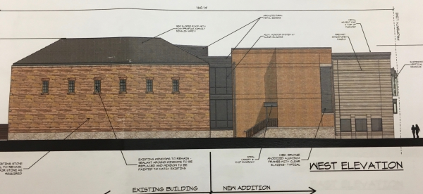 The west elevation of the new Washington's.
