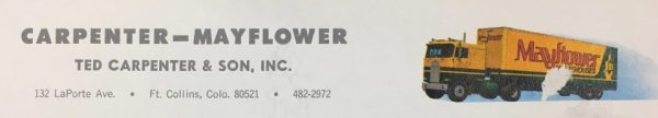 Carpenter's transfer business became part of the Aero Mayflower Moving Co. A piece of the company's letterhead is on file at the Archive at FCMoD.